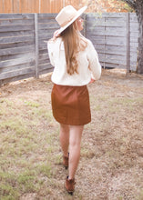 Great Divide Faux Leather Skirt - Sugar & Spice Apparel Boutique