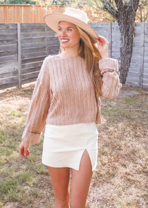 Love You A Latte Knit Top