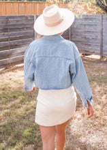 Love Ain't Corduroy Skirt in Ivory - Sugar & Spice Apparel Boutique