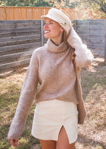 Off the Tracks Conductor Hat in Cream and Pink - Sugar & Spice Apparel Boutique