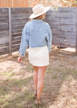 Too Cool Cropped Denim Jacket