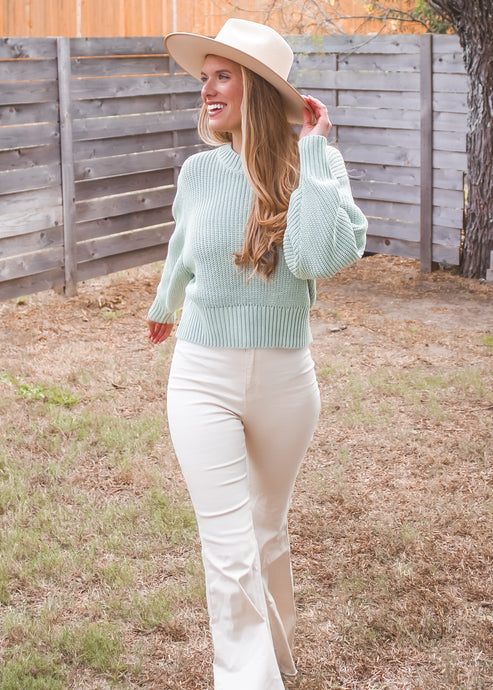 Best Shot Knit Sweater - Sugar & Spice Apparel Boutique