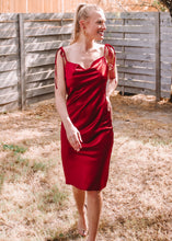 Flawless Satin Slip Dress in Merlot - Sugar & Spice Apparel Boutique