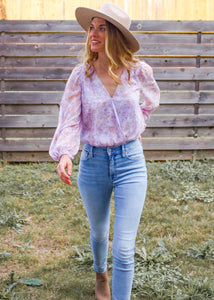 Dreamer Floral Bodysuit - Sugar & Spice Apparel Boutique