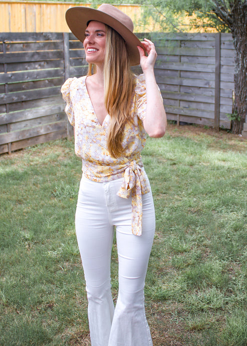 Lady Like Puff Sleeve Top - Sugar & Spice Apparel Boutique