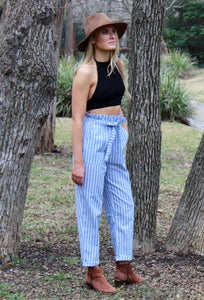 Out of the Blue Cropped Pants - Sugar & Spice Apparel Boutique