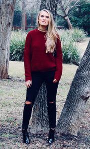 Bad Blood Sweater - FINAL SALE - Sugar & Spice Apparel Boutique