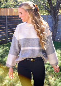 Between the Lines Color Block Sweater - Sugar & Spice Apparel Boutique