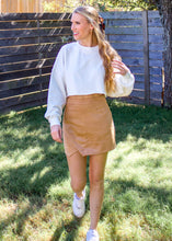 Coffee Date Cropped Sweatshirt in White - Sugar & Spice Apparel Boutique