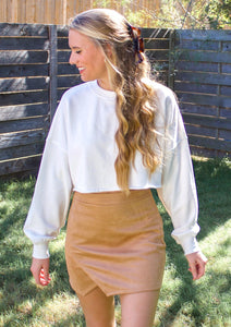 Caramel Macchiato Suede Skirt - Sugar & Spice Apparel Boutique