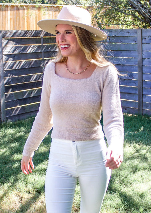Warm Me Up Fuzzy Sweater - Sugar & Spice Apparel Boutique