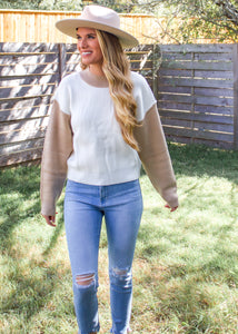 Going Through Phases Color Block Sweater - Sugar & Spice Apparel Boutique