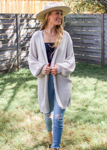 Sweet Escape Cardigan in Oatmeal - Sugar & Spice Apparel Boutique