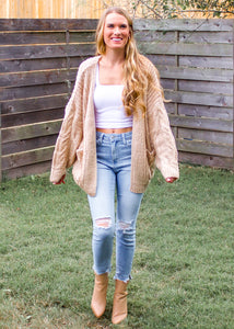Beside the Bonfire Chunky Knit Cardigan - Sugar & Spice Apparel Boutique