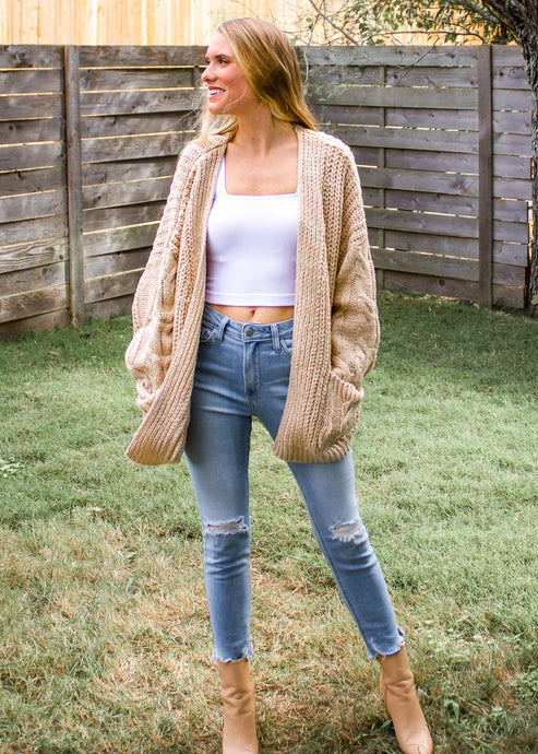 Beside the Bonfire Chunky Knit Cardigan