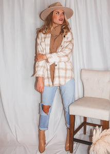 Love You a Latte Plaid Flannel - Sugar & Spice Apparel Boutique