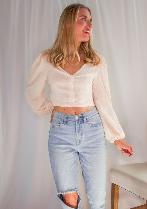 Over It Backless Crop Top in Cream - Sugar & Spice Apparel Boutique