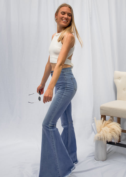 Gypsy Soul Denim Bells in Light Wash - Sugar & Spice Apparel Boutique