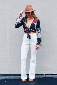 Hit Me With Your Best Shot Flare Jeans - Sugar & Spice Apparel Boutique