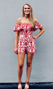 Never Ending Circles Embroidered Romper - Sugar & Spice Apparel Boutique