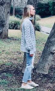 Plot Twist Cable Knit Sweater - FINAL SALE - Sugar & Spice Apparel Boutique
