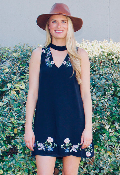 Wild Child Choker Dress - FINAL SALE - Sugar & Spice Apparel Boutique