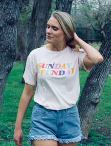 Sunday Funday Tee - FINAL SALE - Sugar & Spice Apparel Boutique