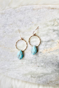 Turquoise Breeze Hoop Earrings - Sugar & Spice Apparel Boutique