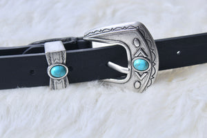 Wild West Faux Leather Belt - Sugar & Spice Apparel Boutique