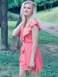 Girl Talk Ruffle Romper - Sugar & Spice Apparel Boutique