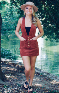 Gimme More Pocketed Corduroy Jumper - Sugar & Spice Apparel Boutique