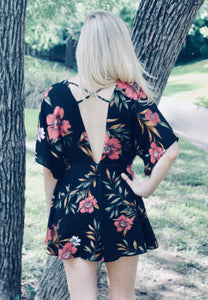 Loving You Easy Floral Romper - Sugar & Spice Apparel Boutique