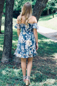 Hawaiian Haze Floral Dress - Sugar & Spice Apparel Boutique