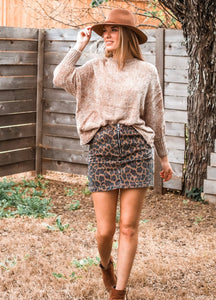 Into The Wild Leopard Skirt - Sugar & Spice Apparel Boutique