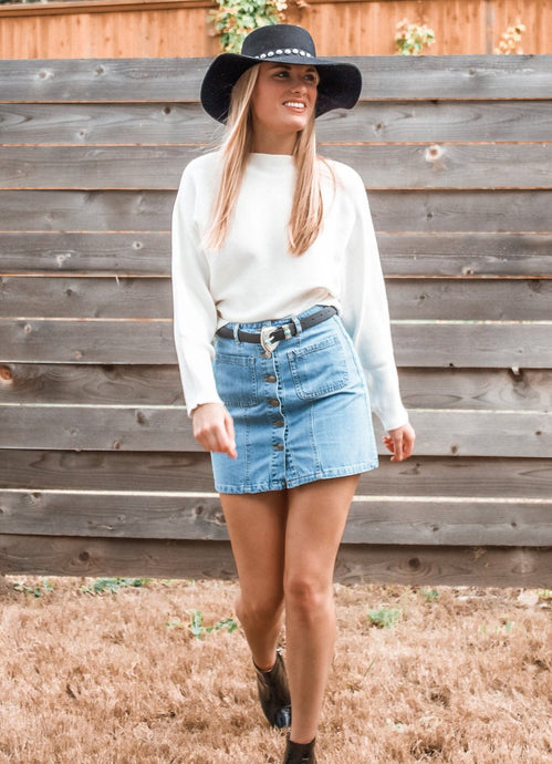 New Americana Denim Skirt - Sugar & Spice Apparel Boutique