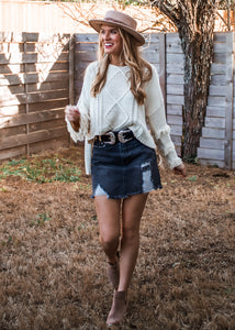 Ranger Double Buckle Belt in Silver - Sugar & Spice Apparel Boutique