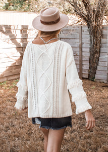 Eastside Fringe Sweater - Sugar & Spice Apparel Boutique