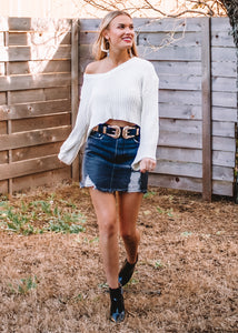 Sweetener Cropped Sweater - Sugar & Spice Apparel Boutique