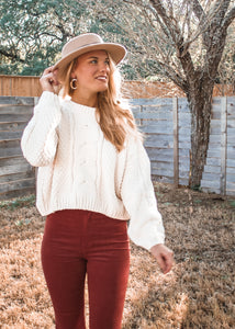 Warm Me Up Chunky Knit Sweater - Sugar & Spice Apparel Boutique