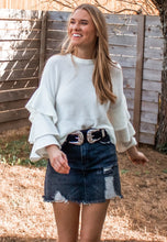 Wonderland Ruffle Sleeve Sweater - Sugar & Spice Apparel Boutique