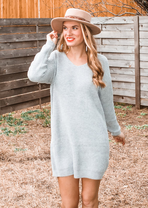 All Tied Up Sweater Dress - Sugar & Spice Apparel Boutique