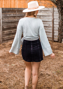 Out of the Office Corduroy Skirt in Black - Sugar & Spice Apparel Boutique