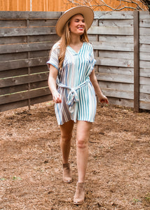 Day Out Striped Shirt Dress - Sugar & Spice Apparel Boutique