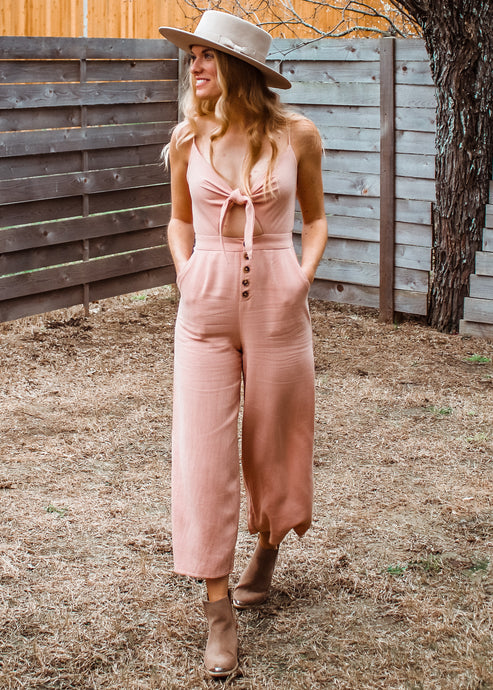 Meet Me in the Desert Linen Jumpsuit - Sugar & Spice Apparel Boutique