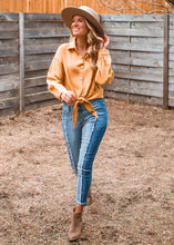 Walk the Line Tie Button Down Top - Sugar & Spice Apparel Boutique