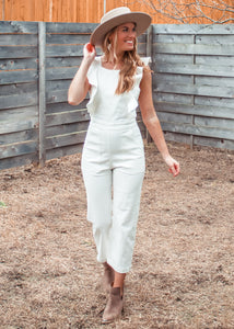 Wannabe Denim Ruffle Jumpsuit - Sugar & Spice Apparel Boutique