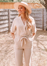 Safari Haze Linen Jumpsuit - Sugar & Spice Apparel Boutique