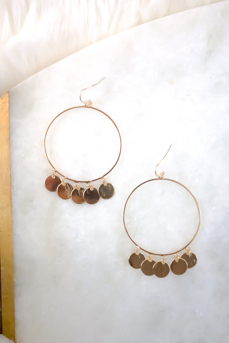 Road to Morocco Hoop Earrings - Sugar & Spice Apparel Boutique