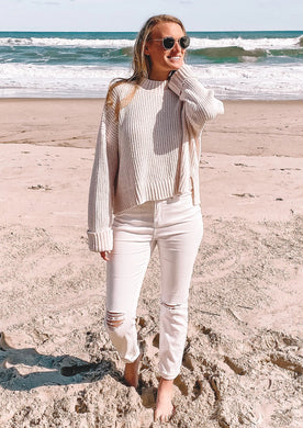 Cold Outside Sweater in Ivory