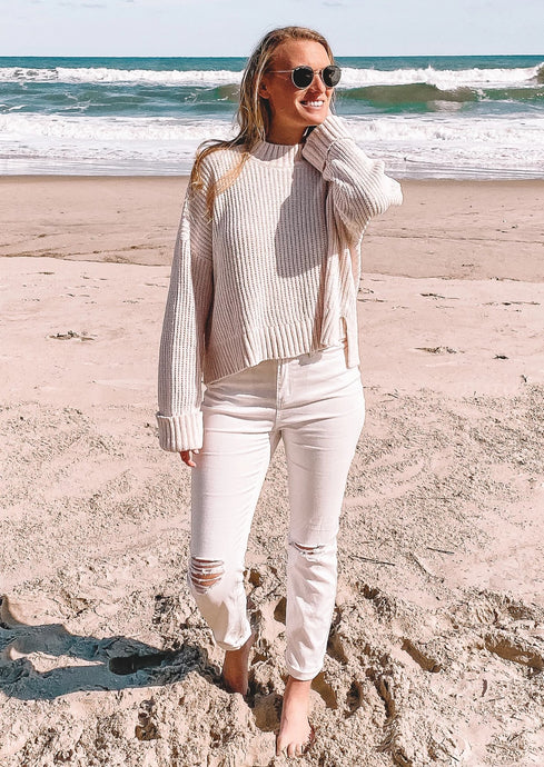 Breathe Me In Knit Sweater in Ivory